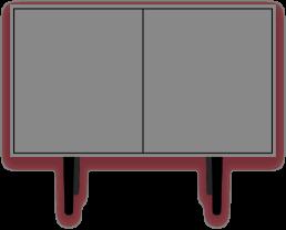 Caruso - Cabinet grigio