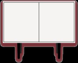 Caruso - Cabinet bianco