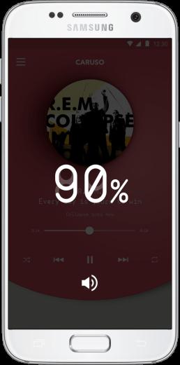 Caruso App - UX Controllo Volume