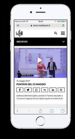 Archivio Video Sito Web Le Iene