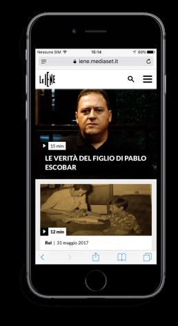 Home Mobile Sito Web Le Iene Tecnologia AMP