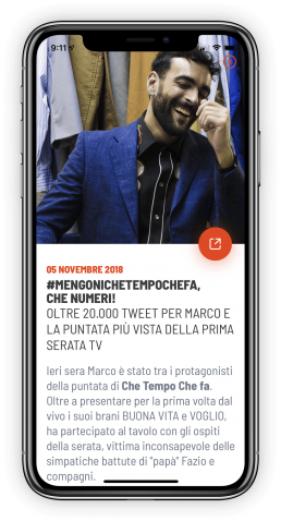 App Marco Mengoni by Rawfish Updates